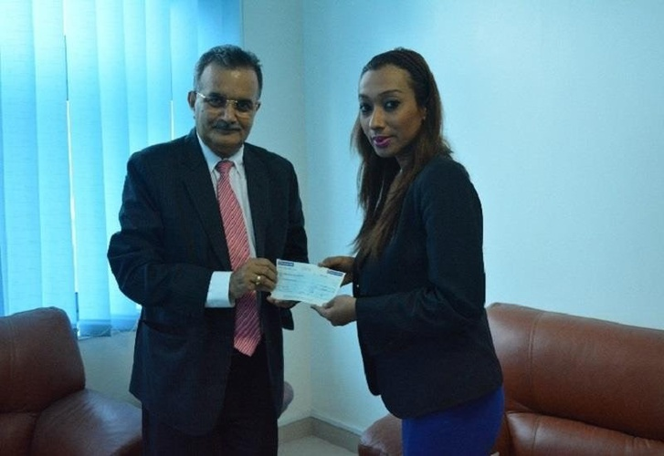 Donation of a day salary to Nepal earthquake relief fund Arabian Courtyard Hotel & Spa Bur Dubaï